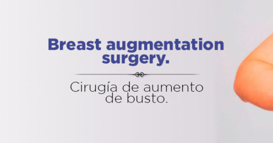 Breast augmentation surgery.