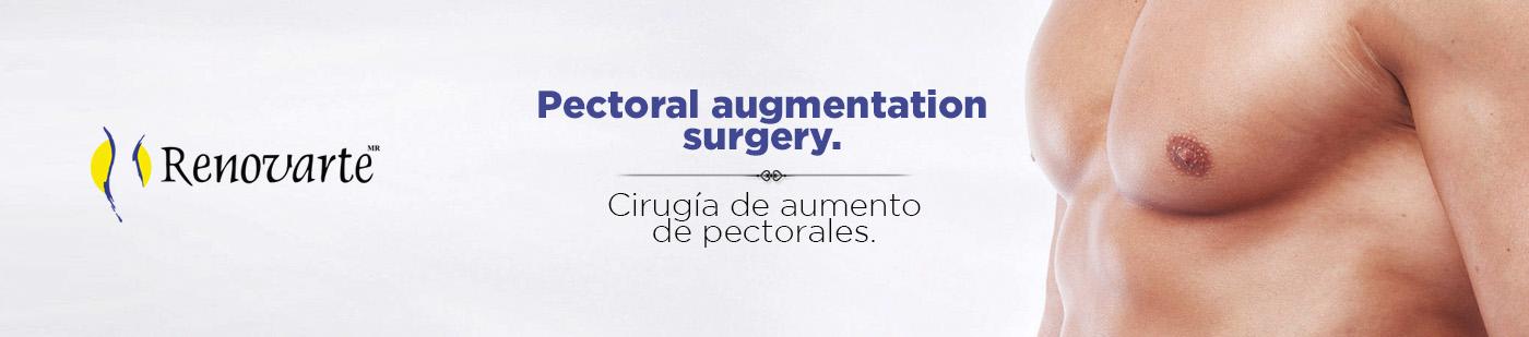 Cirugía de aumento de pectorales.