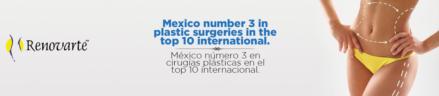 ¡México número 3 en Cirugías Plásticas!